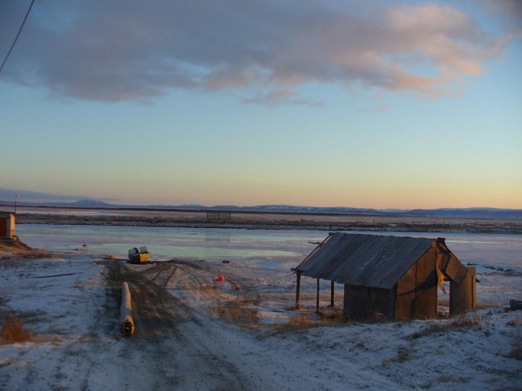 Shaktoolik at Sunrise Looking North