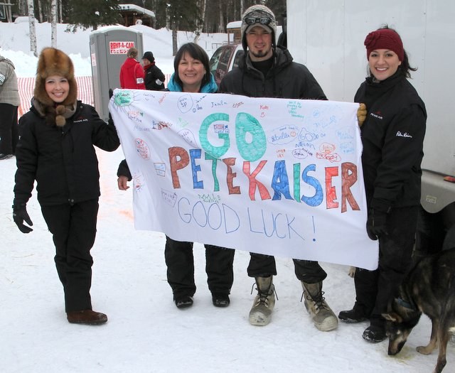 Jen's Niece Hanna's class in Holland Michigan made this sign for Pete at the Willow Restart. Thanks Hanna!