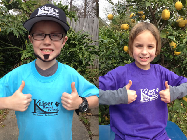 Mini-Pete and his Sister Irene cheering in Louisiana. Thanks Kids!