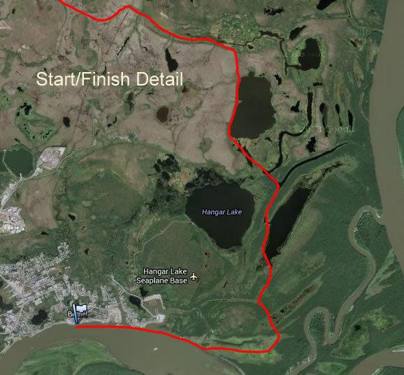 2016 K300 Trail Maps Kaiser Racing Kennel Bethel Alaska
