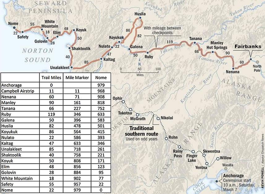 iditarod trail map fairbanks start kaiser racing kennel